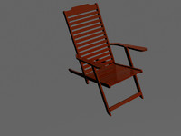 chair wood wooden 3d model