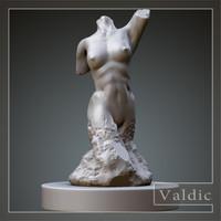female stone torso