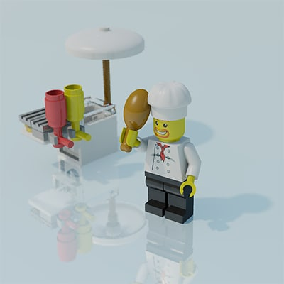 turbosquid. Lego man, chef, 01.png