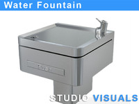3d drinking water fountain model