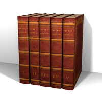 5 Leather Book Set