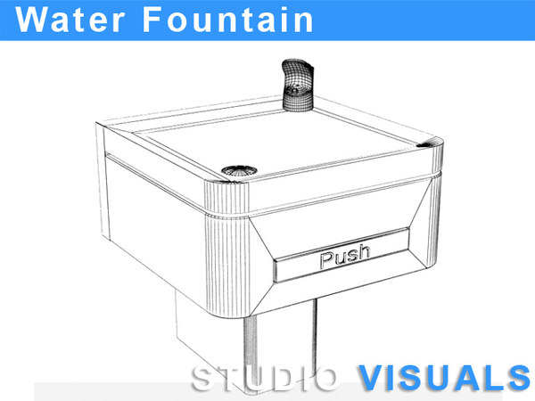 3d drinking water fountain model - water fountain... by StudioVisuals