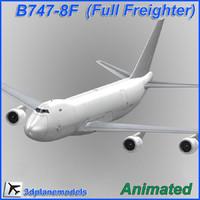 B747-8F Generic white