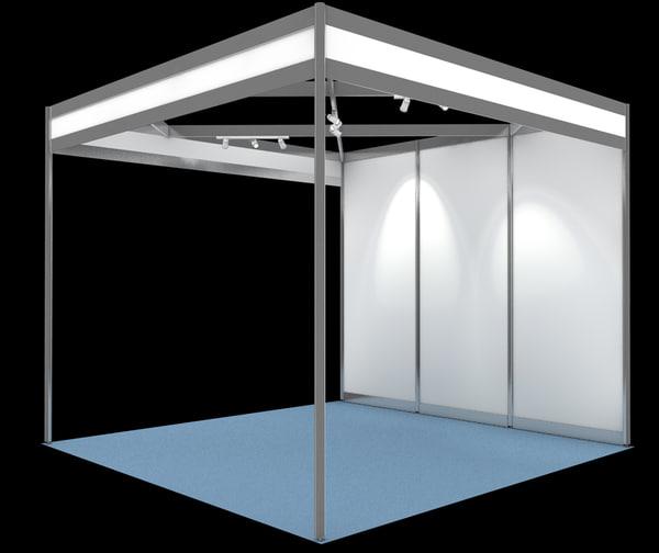Exhibition Booth Shell Scheme : Shell scheme exhibition display d obj