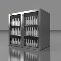 3d model cooler double undercounter beer