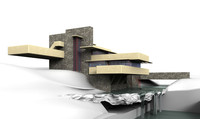 fallingwater pennsylvania usa 3d model