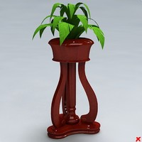flower stand 3d max
