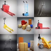 storage elements warehouse 3d model