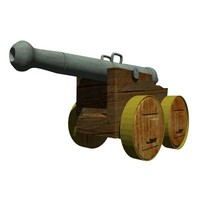 Medieval Cannon (high poly)