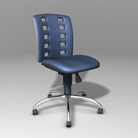 ergonomic office chair 3d 3ds