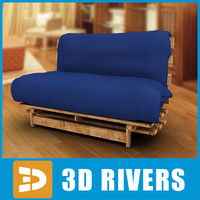 Blue mattress cover couch by 3DRivers