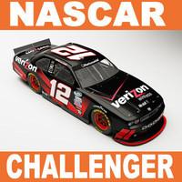 3d nascar dodge challenger 2010