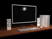 modern desktop computer generic obj
