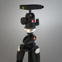 pro tripod manfrotto 3d model