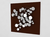 3ds max wall art mirror