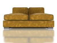 3d model armless sofa