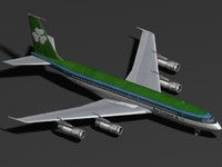 3d model b 707-300 aer lingus
