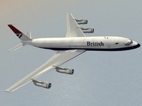 b 707-300 british airways 3d model