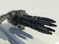 gatling gun - 3d model