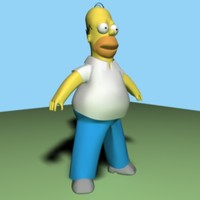 Homer Simpson 3D