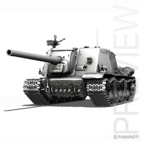 ISU-122 - Soviet heavy self-propelled gun