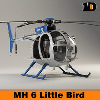helicopter little bird mh-6 3d ma