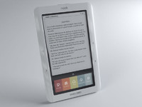 3d model nook ebook reader barnes