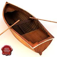c4d row boat