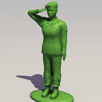 3d max female toy soldier