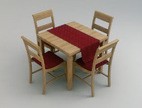 Wood Table with Chairs