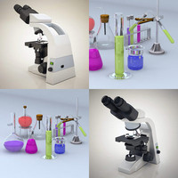 3ds max biological lab equipment