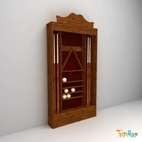 3d billiard cupboard model