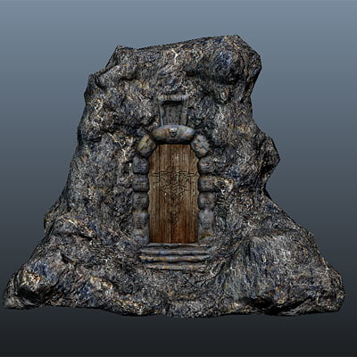 maya fantasy props unity3d - Low Poly Mountain Gate... by KarbonGaming