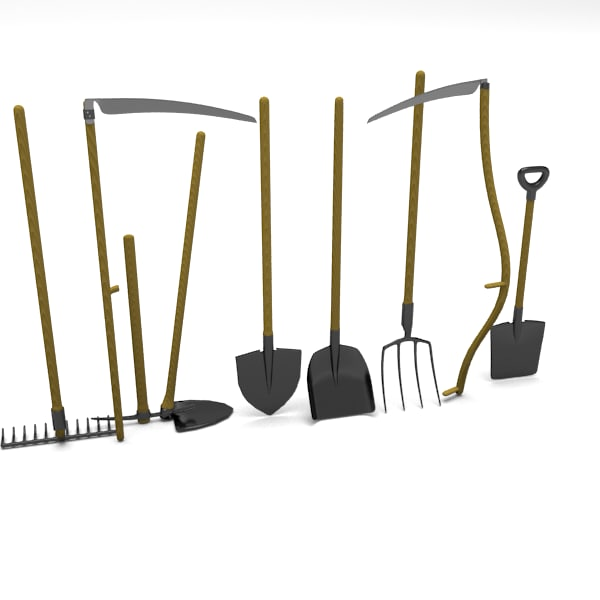 Garden tools pack 3d 3ds for Gardening tools 3d model