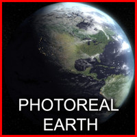 photoreal earth 3d max