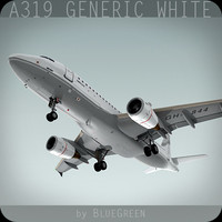 Airbus A319 Generic White