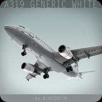 a319 generic white plane lwo