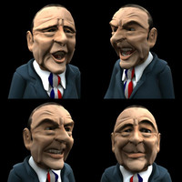3d stylized man character rigged