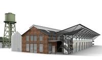 3d model jahrhunderthalle century hall