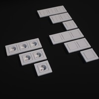 wall outlet switches 3ds