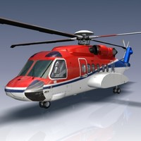 3d sikorsky s92 helicopter
