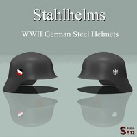 3d model helmets german army