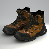 trekking shoes 3d max