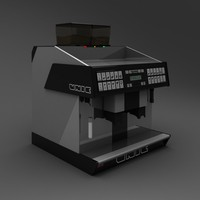 3d espresso machine unic model