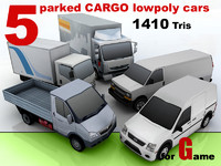 3ds max parked cargo cars 5