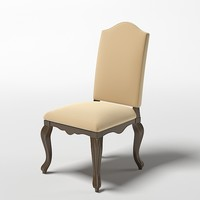 3d model classic chair stool