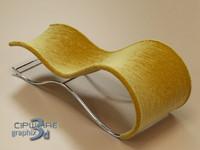 chaise longue 1 3d max