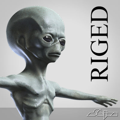 Rigged Alien Character
