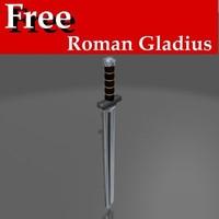 free short roman gladius 3d model