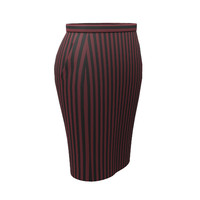3d model pencil skirt